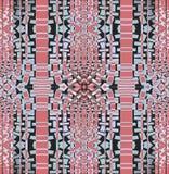 Regular intricate mosaic pattern pastel red silver gray black vertically Royalty Free Stock Image