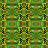 Regular intricate oval pattern orange green black netting Stock Photography