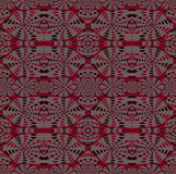 Regular intricate pattern red pink gray black Royalty Free Stock Photography