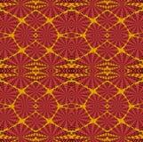 Regular  intricate squares pattern red orange dark brown Royalty Free Stock Photos