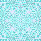 Regular intricate squares pattern turquoise, pastel green and lilac Royalty Free Stock Photography