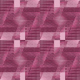 Regular intricate waffle-weave pattern pink red violet shifted Stock Photography