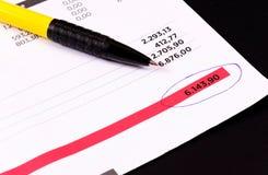 Regular invoice Stock Image