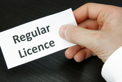 Regular Licence Sign Royalty Free Stock Photos