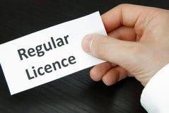 Regular Licence Sign Royalty Free Stock Photos