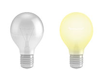 Regular light bulb lamps, Stock Photography