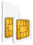 Regular and mini SIM cards Royalty Free Stock Images