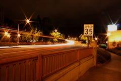 Eugene at night stock photo