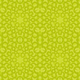Regular oval pattern lemon lime green seamless Stock Image