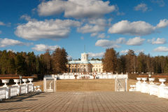 Regular park in Arkhangelskoye estate in the spring. Royalty Free Stock Images