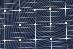 Regular pattern of a photovoltaic module. Solar module with monocrystalline cells royalty free stock image