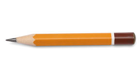 Regular pencil over white Royalty Free Stock Photography