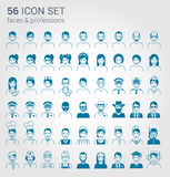 Regular people and professions icon set Stock Photo