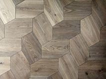Regular polygonal parquet. Parquet with regular polygonal lines Royalty Free Stock Photos
