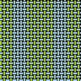 Regular rectangles pattern blue green netting Stock Photo