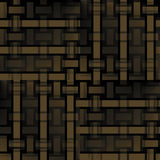 Regular rectangles and stripes pattern gold brown black shifted Stock Image