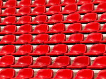 Regular red seats. In a stadium Royalty Free Stock Photo