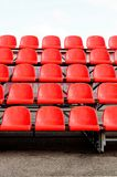 Regular red seats Stock Photo