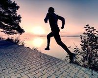Free Regular Run At Lake.  Man Runner Sprinting Outdoor In Scenic Nature Royalty Free Stock Photos - 159227458