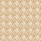 Regular seamless intricate pattern beige light brown diagonally. Abstract geometric seamless background. Regular intricate pattern beige and light brown shades Royalty Free Stock Images