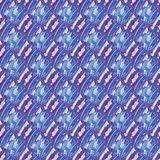 Regular seamless intricate pattern blue gray purple violet red diagonally. Abstract geometric seamless background. Regular intricate pattern light blue, blue Stock Photography