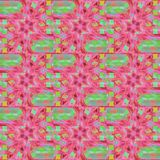 Regular seamless intricate pattern pink red violet and light green. Abstract geometric multicolored background. Regular seamless intricate pattern pink, red royalty free illustration