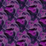 Regular seamless intricate spirals pattern purple violet pink gray black. Abstract geometric seamless background. Regular intricate spirals pattern purple vector illustration