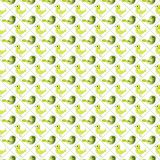 Regular seamless pattern with birds. Seamless pattern with birds. Happy checked texture Stock Photos