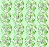 Regular seamless spirals pattern light green beige white vertically Royalty Free Stock Images