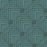 Regular seamless zigzag pattern turquoise dark green gray brown diagonally. Abstract geometric seamless background. Regular delicate zigzag pattern turquoise Stock Images