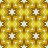 Regular shifted star pattern white yellow green ocher brown seamless Stock Photo