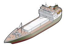 Regular Ship Icon. Design Elements 41l Royalty Free Stock Image
