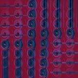 Regular spirals pattern vertically shifted, dark blue and purple shade Stock Photo
