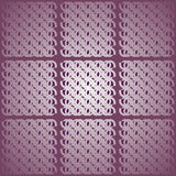 Regular squares pattern with oval elements silver gray and purple centered and blurred. Abstract geometric background. Regular squares pattern with oval elements Stock Illustration