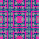 Regular squares and rectangles pattern magenta turquoise green purple gray. Abstract geometric background. Regular squares and rectangles pattern magenta stock illustration