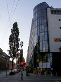 Regular street in Munich Royalty Free Stock Photo