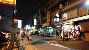 Regular street walking at night, local life Royalty Free Stock Photography