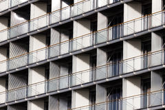 Regular structure of windows and balconies Royalty Free Stock Images