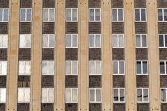 Regular structure of windows. Modern building Royalty Free Stock Image