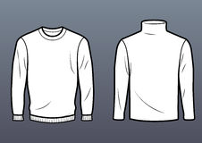 Regular sweater and turtleneck Royalty Free Stock Images