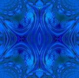 Regular symmetric ornament dark blue and gray. Abstract geometric background. Regular symmetric ornament in dark blue and gray shades, ornate and dreamy Royalty Free Stock Photography