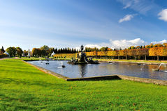 Regular Upper Park of Peterhof , S.Petersburg Stock Photography
