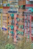Regular urban street with residential houses, Valencia, Spain Royalty Free Stock Photography
