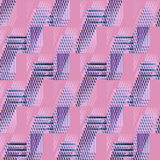 Regular waffle-weave pattern purple pink violet diagonally. Abstract geometric seamless background. Regular waffle-weave pattern in purple, pink and violet royalty free illustration