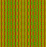 Regular wavy stripes and diamond pattern red yellow orange green Stock Photography