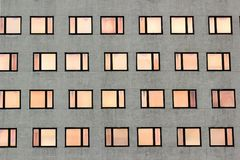 Regular windows pattern on facade of a building Stock Photography