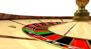 Roulette Wheel Close Up Royalty Free Stock Images