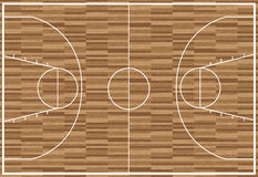 Regular wooden basketball pitch stock illustration