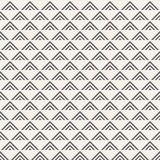 Regularly repeating geometric tiles of striped triangles. Royalty Free Stock Images
