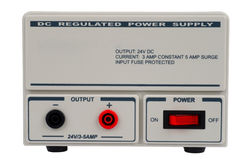 Regulated DC power supply. For use in a electronic laboratory Royalty Free Stock Photography